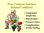 four common nutrition related conditions