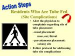 residents who are tube fed site complications