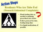 residents who are tube fed stomach abdominal complaints1