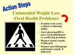 unintended weight loss oral health problems