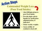 unintended weight loss poor food intake
