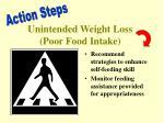 unintended weight loss poor food intake1