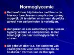 normoglycemie