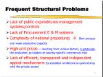 frequent structural problems