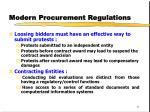 modern procurement regulations
