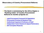 observatory of country procurement reforms