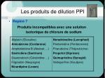 les produits de dilution ppi1