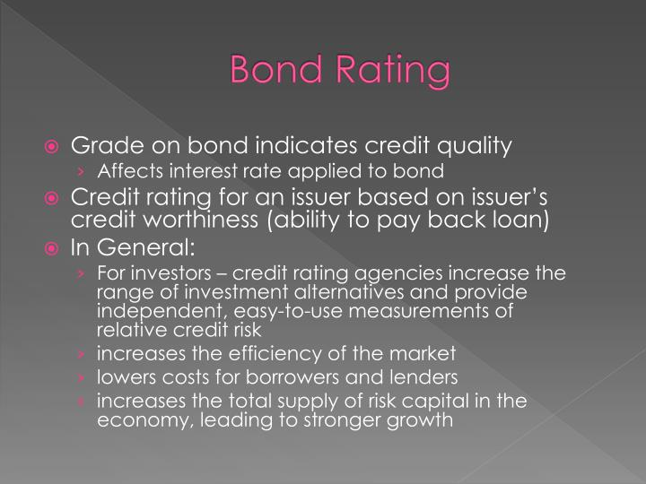Bond Rating