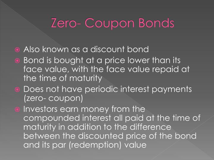 Zero- Coupon Bonds