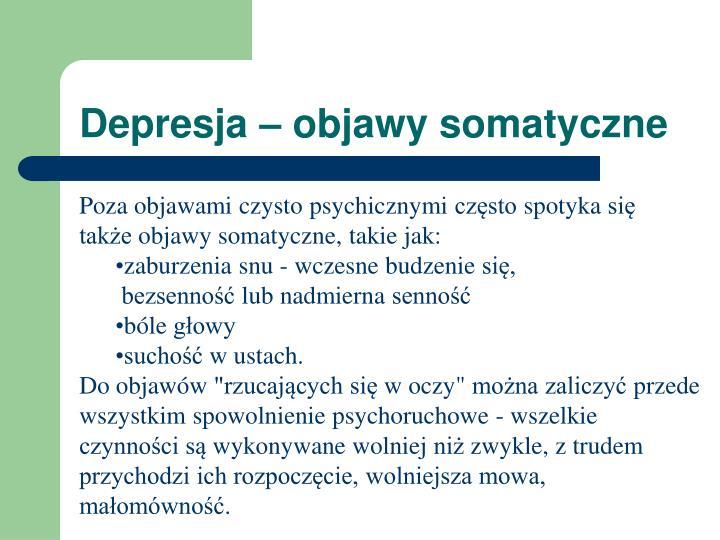 Depresja objawy somatyczne
