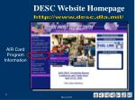 desc website homepage