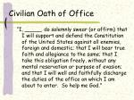 civilian oath of office