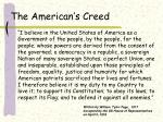 the american s creed
