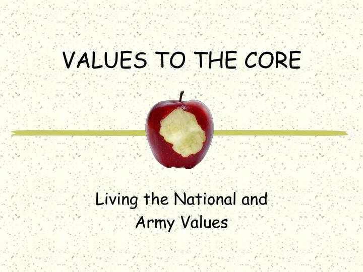 values to the core n.