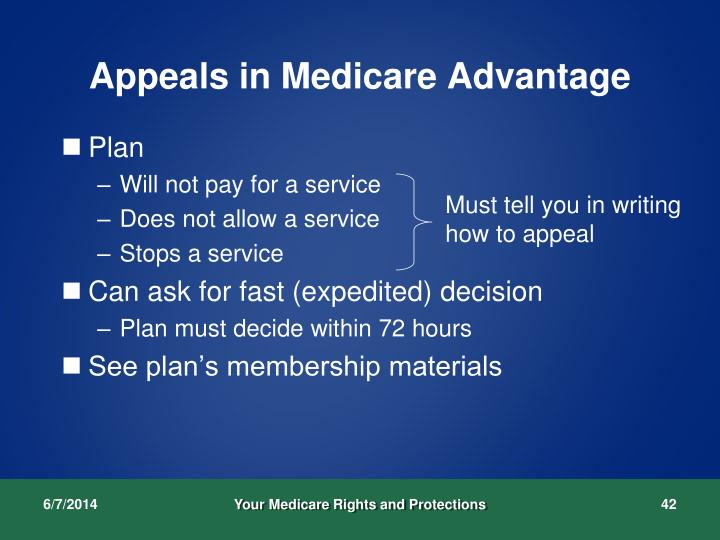 Appeals in Medicare Advantage