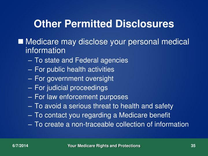 Other Permitted Disclosures