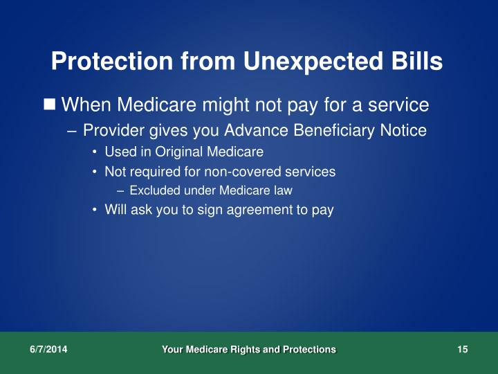 Protection from Unexpected Bills