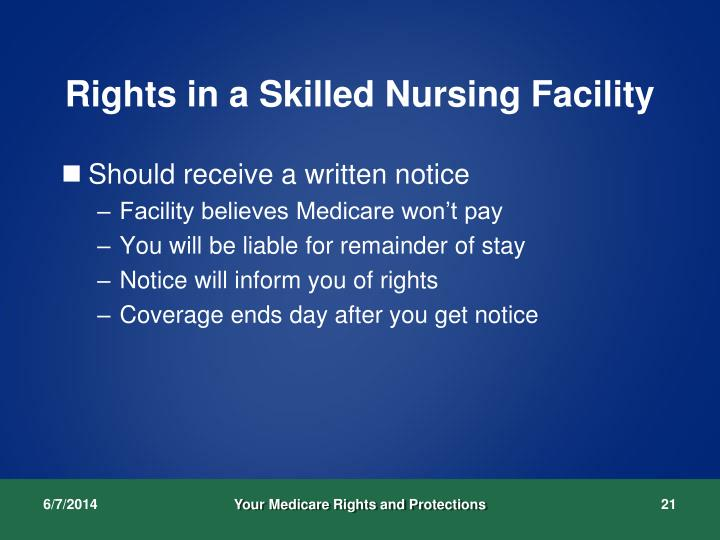 Rights in a Skilled Nursing Facility