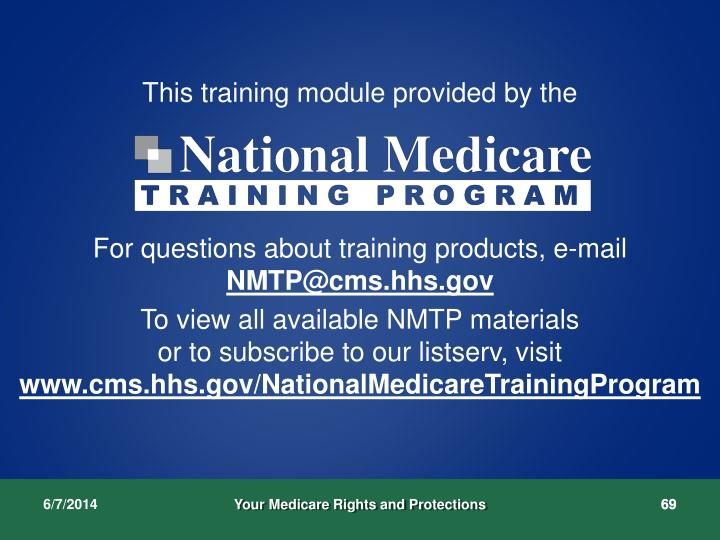 This training module provided by the