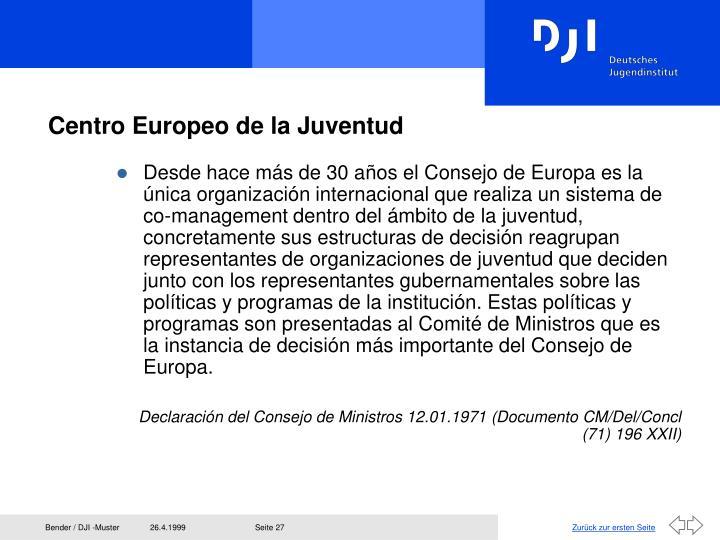 Centro Europeo de la Juventud