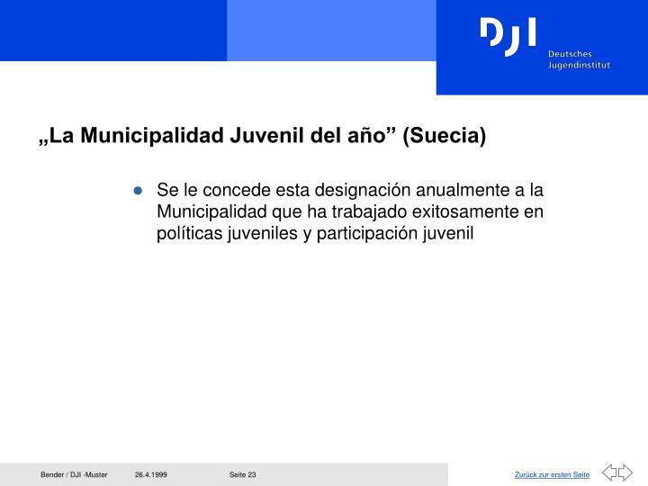 """""""La Municipalidad Juvenil del a"""