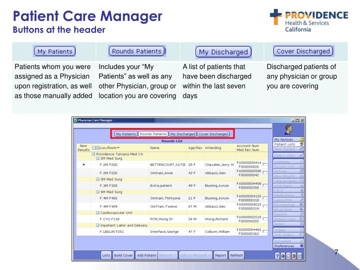 Patient Care Manager