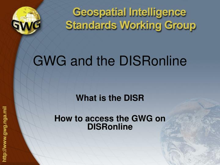 Gwg and the disronline