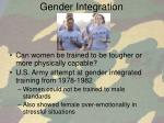 gender integration