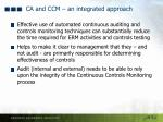 ca and ccm an integrated approach2