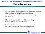 betablockerare
