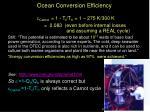ocean conversion efficiency