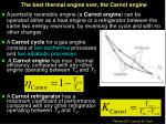 the best thermal engine ever the carnot engine