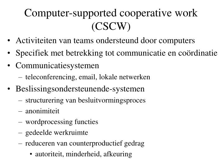 computer supported cooperative work cscw n.