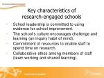 key characteristics of research engaged schools