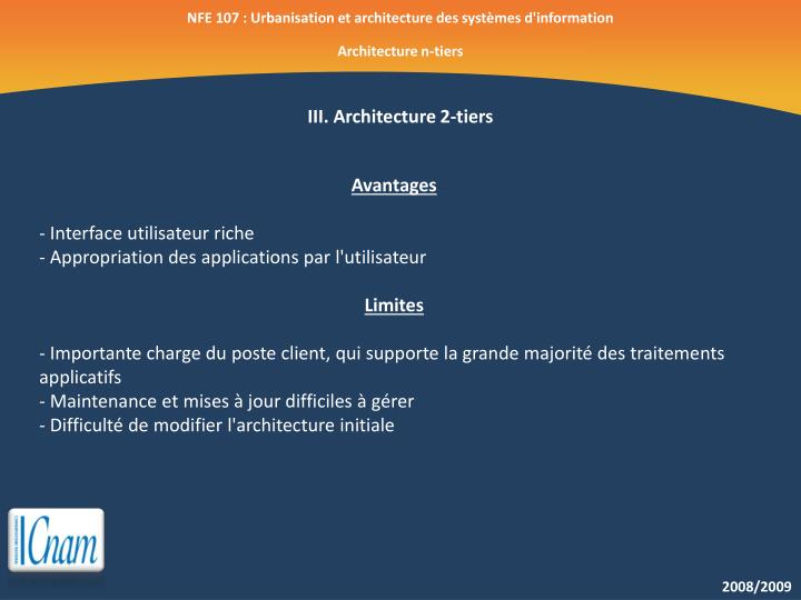 NFE 107 : Urbanisation et architecture des systèmes d'information