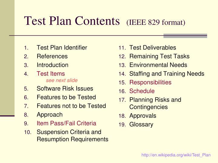 Test Plan Identifier