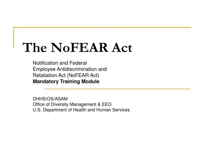 the nofear act n.