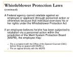 whistleblower protection laws continued