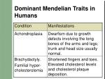 dominant mendelian traits in humans