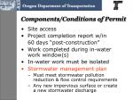 components conditions of permit