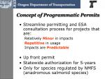concept of programmatic permits