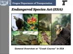 endangered species act esa