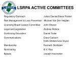 lsrpa active committees