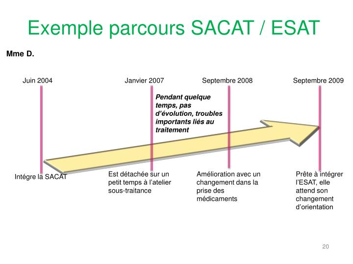 Exemple parcours SACAT / ESAT