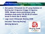 kasus sponsorship dalam event olimpiade beijing 2008