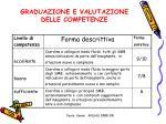 graduazione e valutazione delle competenze