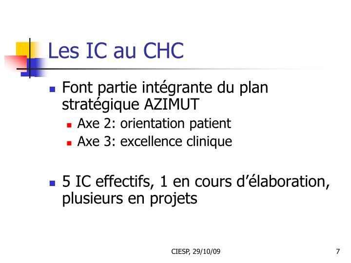 Les IC au CHC
