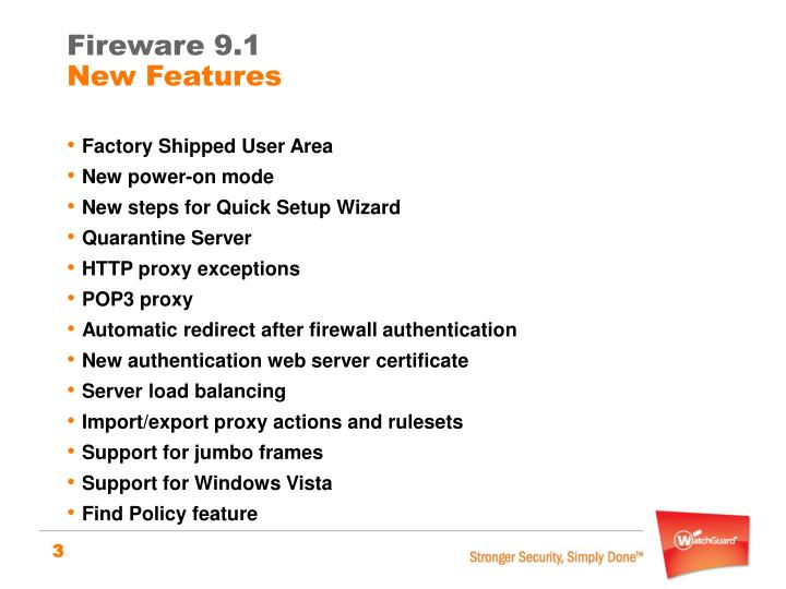 Fireware 9 1 new features