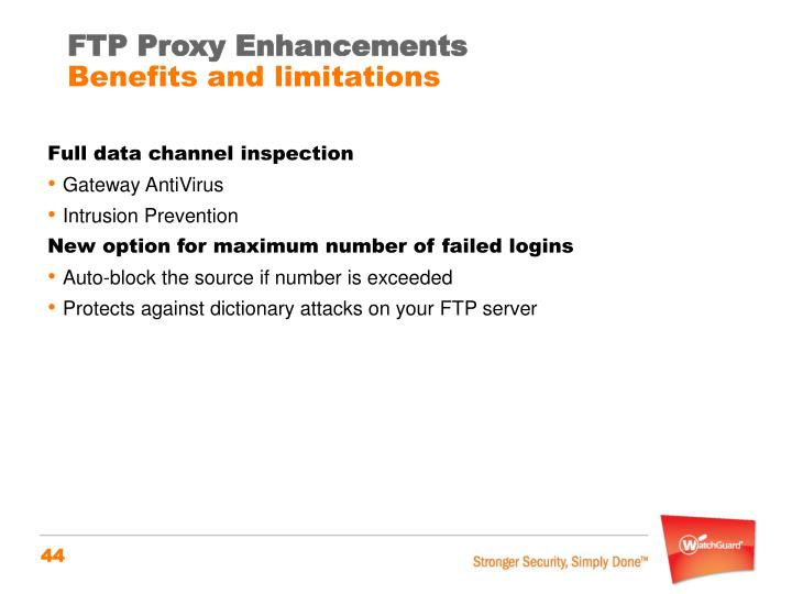 FTP Proxy Enhancements