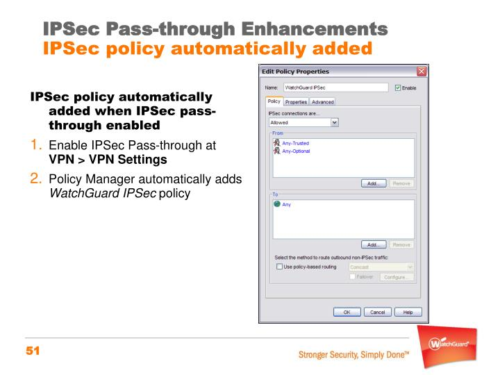 IPSec Pass-through Enhancements